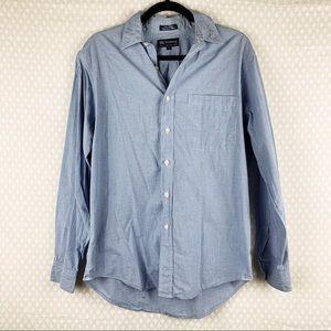 Burberry   blue check button down vintage shirt
